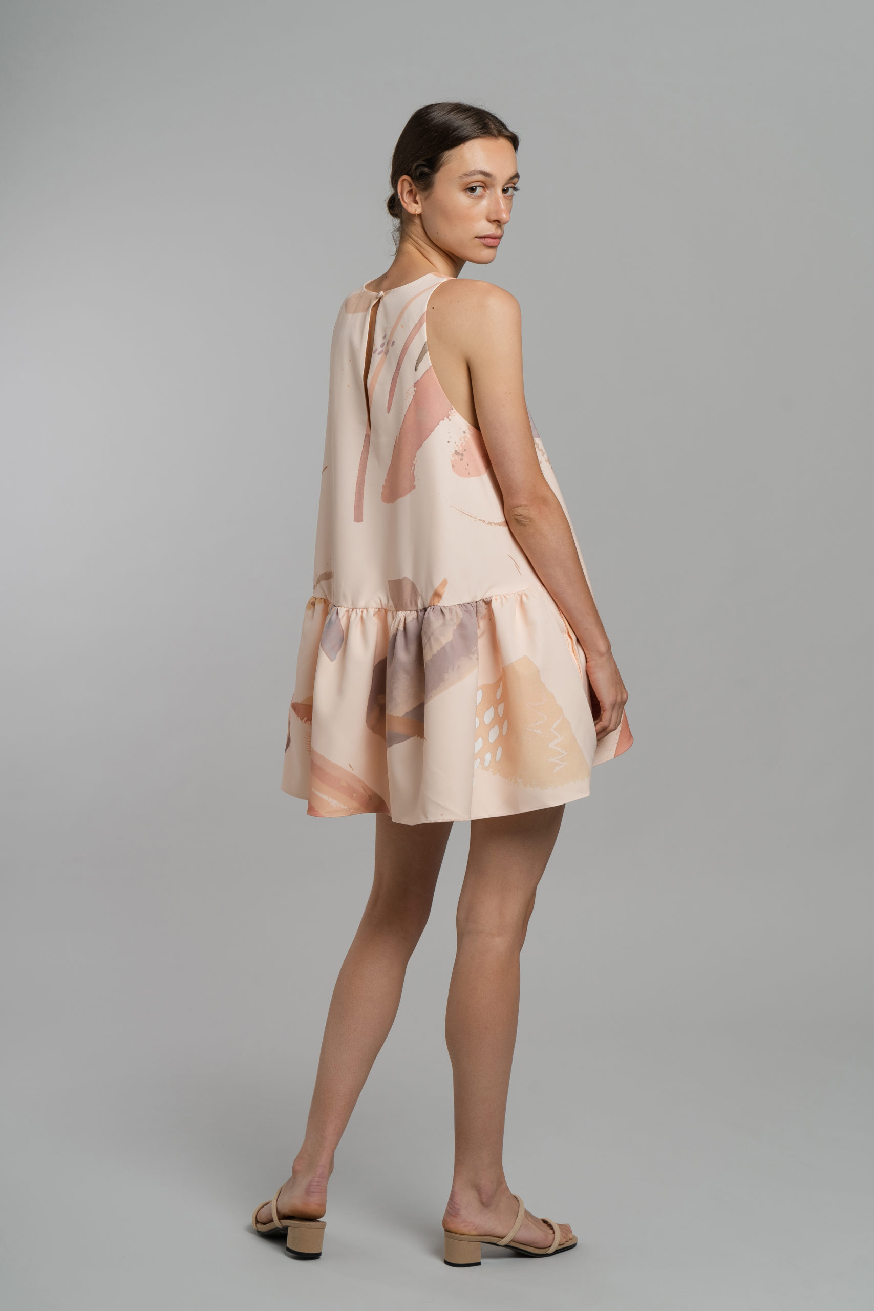 Mini Pouf Cocktail Dress Terrablush